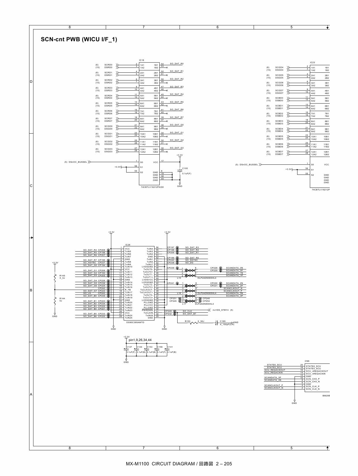 sharp mx m850 m950 m1100 circuit diagrams
